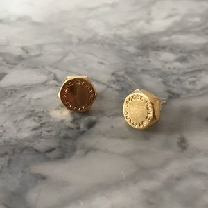Marc by Marc Jacobs gold bolt earring studs